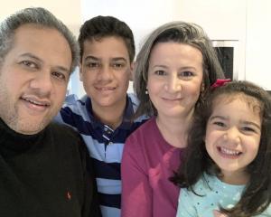 International opera singer Jonathan Lemalu, son Joshua (13), wife mezzo-soprano Sandra Martinovic...