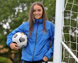 Southern United footballer Macey Fraser at training yesterday afternoon. PHOTO: GREGOR RICHARDSON
