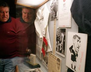 Sir Colin Meads, who was inducted into the New Zealand Sports Hall of Fame in 1990, visits the...