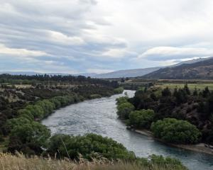 The Clutha River at Maori Point, where a new cycle trail between Wanaka and Cromwell may run...