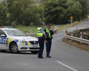 The scene of an incident yesterday, were a wanted man and police dog were shot. Photo: RNZ