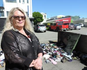 Oamaru Charity Shop manager Bonnie McLellan described the shop's burnt bin as a ''nuisance''....