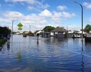 Flooding in Napier last month. Photo: RNZ