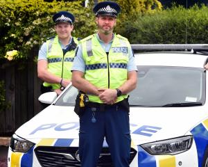 Members of the new Dunedin impaired drivers prevention team (from left) Constables Nathan Adam,...