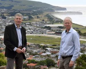 Otago Regional Council operations general manager Gavin Palmer (left) and Dunedin City Council...