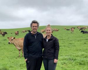 Southland Jersey farmers Ross and Kristy Conder. PHOTO: SUPPLIED