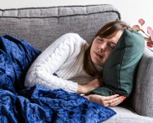 Research shows using a weighted blanket can help reduce insomnia and anxiety. Photo / Supplied