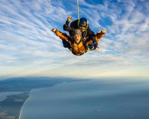 Richie McCaw completes his first ever skydive over Mt Maunganui. The jump took place to mark...