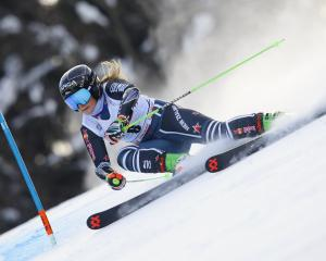 Alice Robinson in World Cup action in Slovenia earlier this month. PHOTO: GETTY IMAGES