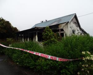 A house in Willis St, Greymouth, was destroyed by fire in December. PHOTO: GREYMOUTH STAR