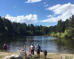 Pinders Pond is a popular swimming are near Roxburgh. Photo: ODT