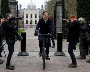 Netherlands Prime Minister Mark Rutte leaves the Royal Palace, in The Hague. Photo: Reuters