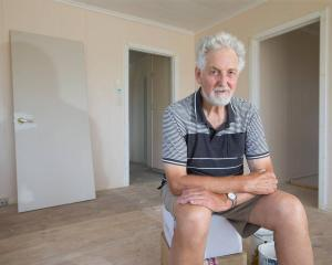 Landlord Ron Goodwin in a Stanmore Bay rental. Photo: Nick Reed