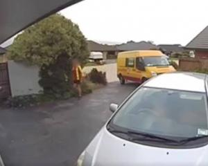 Video showed the driver making an extra delivery after he dropped off the package. Photo: Supplied