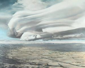 One of Leo White's favourite photographs was this photo taken in 1951, of a cloud above...