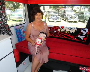 Lynne Clarke, of Dunedin, has turned an old caravan into a fun Betty Boop-themed paradise. PHOTOS...