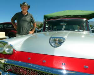 Eddie Rogers, of Christchurch, shows his 1958 Ford Custom 300 saloon which was assembled in...