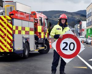 Dunedin senior firefighter Blair Harcus wants people to slow down around emergency scenes, to...