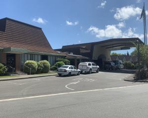 The private meeting is being held at the Ascot Park Hotel. Photo: Abbey Palmer