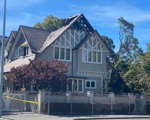 The house which was significantly damaged' by a fire in Christchurch. Photo: George Heard / NZH