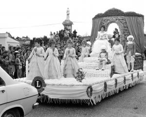 Is this you? Float princess Julie Taylor rides on the Alexandra Lions Club's float ''Dresden...