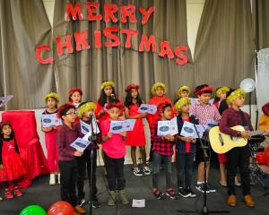Christmas carols by the children