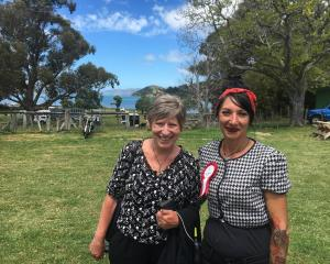 Christchurch Mayor Lianne Dalziel and Duvauchelle A&P Association president Tania Kiely hope...