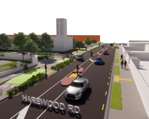 The cycleway will run through Papanui. Photo: Supplied