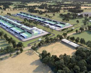 An artist's impression of a proposed cloud-computing data centre 