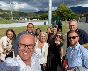 Working hard or hardly working? Dunedin North MP David Clark with several of his caucus...