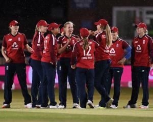 The England women's cricket team will play two matches in Dunedin in February. Photo: Getty Images
