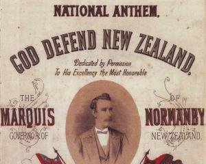 Original sheet music of 'God Defend New Zealand' national anthem. Photo: File