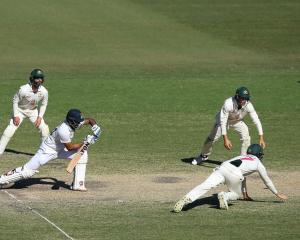 India's Hanuma Vihari battled away at the crease. Photo: Getty Images