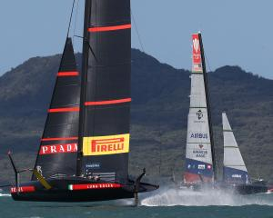 Luna Rossa dominated American Magic in both of today's semi-final races. Photo: Getty Images