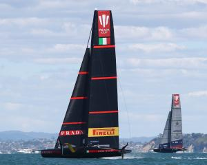 Luna Rossa with a commanding lead over American Magic in the Prada Cup semi-finals. Photo: Getty...