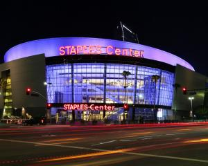 The Staples Center in Downtown Los Angeles. PHOTOS: GETTY IMAGES
