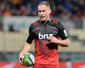 Andy Ellis running out for the Crusaders in 2016. Photo: Getty Images
