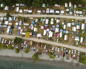 Domestic tourists continued to fill the 2000 spots at the Glendhu Bay Motor Camp during the...