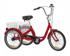 The stolen red Gomier tricycle. Photo: Police