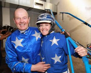 Mark Purdon and Natalie Rasmussen. Photo: Martin Hunter / Getty Images