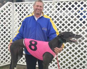 Rangiora trainer Garry Cleeve with Pearls Are Us, who won the Colin Keen Memorial at Forbury Park...