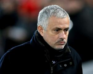 Jose Mourinho during his final game with Manchester United. Photo: Getty Images