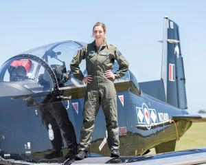 Lieutenant Jo Brook, from Dunedin, is New Zealand's first female navy pilot. PHOTO: NEW ZEALAND...