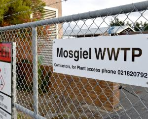 Mosgiel waste water treatment plant entrance.