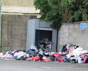 Clothing and other rubbish is being left illegally at many spots throughout the district. PHOTO:...