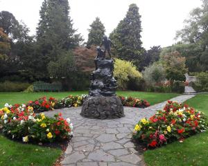 The Wonderland statue in the Oamaru Public Gardens. Photo: ODT files