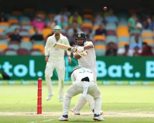 Rishabh Pant swung for the fences in an extraordinary 89 in 138 balls in Brisbane. Photo: Getty...
