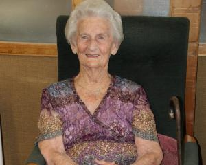 Gore's Resthaven Village resident Lorraine Wright celebrates her 100th birthday yesterday. PHOTO:...