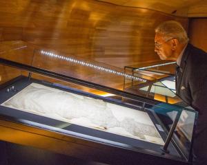 Ngati Tuwharetoa leader, Sir Tumu Te Heuheu, at the opening of the He Tohu exhibition at the...