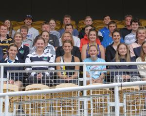 The athletes present at the announcement of the new Athletics Otago squad at the Caledonian...
